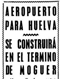 Aeropuerto de Huelva se construirá en Moguer