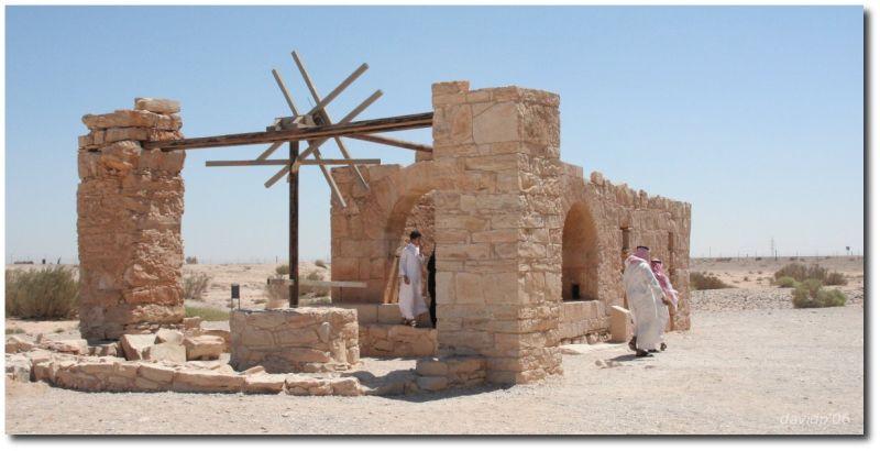Pozo en el castillo omeya de Qusair 'Amra